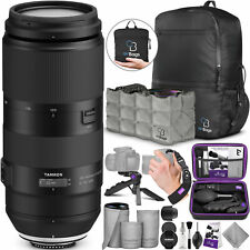 Tamron 100-400mm f/4.5-6.3 Di VC USD Lens for Canon EF with Essential Bundle