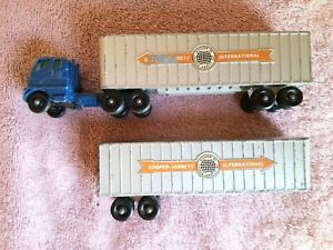 Vtg Matchbox Toy Major Pack #9 Inter State Double Freighter England Lesney Truck