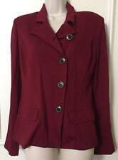 Women's Cabi Red Stretch Outing Blazer Button Front Jacket Size 4 Style #3175