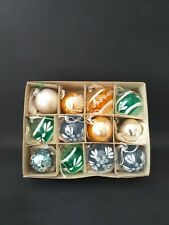 VINTAGE 1950's CHRISTMAS TREE DECORATIONS  x 12 Glass