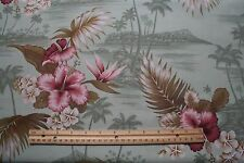 Tropical 100% Cotton Fabric Sewing Quilting David Textiles 27x44 inches  :)