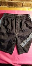 Boys Navy Blue Swim Trunks W/Lt. Blue Stripes On Both Sides, Size 6