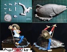 ANIME MODEL RESIN KIT 1/10 - 釣りキチ三平 Tsurikichi Sanpei SAMPEI ON GIANT CARP