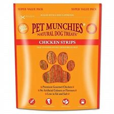 Pet Munchies Natural Dog Treats 320g Pack - 100 Meat Food Real Healthy Strips
