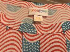 NWT - LuLaRoe Americana Maria - Flag Print - 3X - Maxi Dress