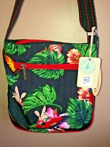 Scarlet Macaw Handbag Purse MessengerAdjustable Crossbody Bag Zip Top NWT