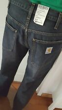 Carhartt staff Pant rancho Jeans Hose Loose Fit hombres used washed w30 l32 nuevo