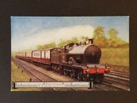 Mint Up Manchester Luncheon Car Express L & NW Railway Color Vintage Postcard