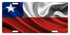Chile Flag Custom License Plate La Estrella Solitaria Emblem Wave Version #3