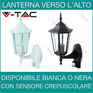 V-TAC Lanterna da parete con sensore di movimento  PIR Nera o bianca