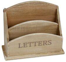 Rustic Wooden Letter Holder Mail Post Rack