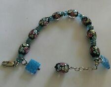 Murano Glass & Sterling Bracelet