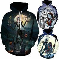 The Nightmare Before Christmas Sally Jack Skellington Hoodie Sweatshirt Jacket