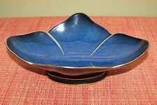 CARLTON WARE BLEU BLUE ROYALE footed Candy Mints Bowl Made in England Model2090