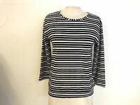 Ex Marks and Spencer Navy and White Striped Top Size 12 14 16 18 (19)
