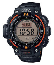 CASIO DIGITAL TRIPLE SENSOR COMPASS BAROMETER LED MEN'S WATCH SGW-1000B-4A NEW