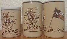 Texas Salt And Pepper Shakers with tooth pick holder
