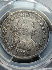 1796 DRAPED BUST HALF DOLLAR, 16 STARS, PCGS VF DETAILS REPAIRED, RARE DATE
