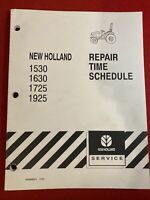 New Holland 1530 1630 1725 1925 Tractor Repair Time Schedule Manual