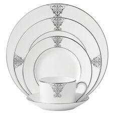 Vera Wang Wedgwood Imperial Scroll 5 Piece Place Setting Dinnerware New Boxed