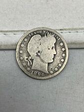 1896-O US Silver Barber Quarter #172