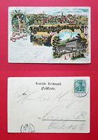 Litho AK BAD RASTENBURG 1902 Ortsansicht mit Kurhaus    ( 36216