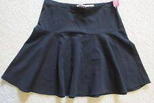 New with Tags Women's Merona Stretch Ruffle Skirt Knee Length Solid Black Size 6