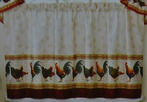 Rooster Curtains Drapes Valances For Sale Ebay