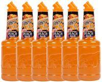 6 Pack Finest Call 1 Liter Premium Peach Puree Mix Mixer WEB Sweetener