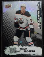 2020-21 UD Series 2 #RC-5 PHILIP BROBERG Rookie Class  RC Oilers