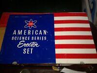 COMPLETE 1950's A.C. GILBERT ERECTOR SET 6 1/2 CRANE MODEL #10055