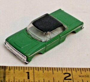 AURORA 1963 FORD FAIRLANE CAR HO SLOT CAR BODY 1960s IN GREEN