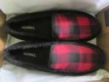 Mens 10.5 Sorel Dude MOC Moccasin Loafers Leather Slippers on Shoes 10 1/2