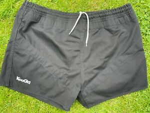 KOOGA Black Cotton Canvas Rugby shorts XXL Mint condition - Never used
