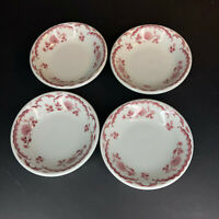 Shenango China Chardon Rose Red Restaurant Ware 4 Fruit/Dessert Sauce Berry Bowl