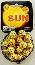 GLASS MEGA MARBLES *SUN* 24 players +1 Shooter FREE SHIPPING!
