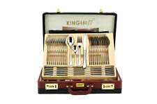 72 Pcs Stainless Steel Cutlery Set Case Dining Utensils Tableware Gift Canteen