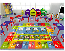 Fun Art ABC Classroom Learning Area Rug Carpet for Kid and Children 3' 3 x 4' 7