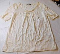 Jones New York Sport Short Sleeve shirt top blouse shirt Womens Size S small NWT