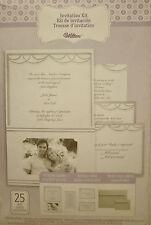 Wilton Wedding Invitation Kit with Pocket Photo Silver White 25 Sets per Kit NIB