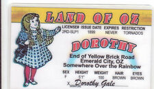 Dorothy Land of Oz Animated novelty id card Drivers License Wizard w w denslow