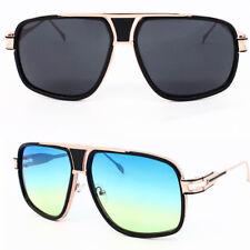 New Unisex Black Gold Luxury Square Frame Popular Celebrity Pilot Sunglasses