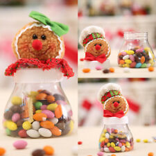 Christmas Gingerbread Man Candy Bottle Jar Storage Container Box Sweet Gift