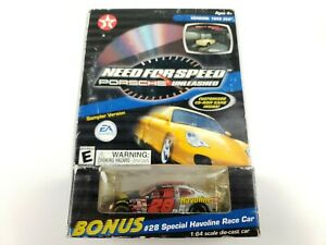 Action Havoline Need For Speed Porsche CD Game W/ #28 Ricky Rudd Car 1:64