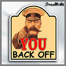 YOU BACK OFF Car Sticker Vintage Funny JDM DUB Euro Bumper Window Decal 4x4