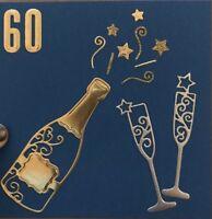 Brand New Champagne Wine Bottle Glass Celebration Metal Die Cutter Uk Seller