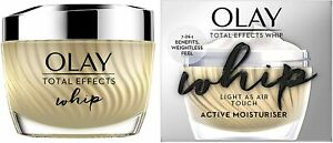Olay Total Effects Whip Light As Air Active Moisturiser 7-in-1 Benefits 50ml UK