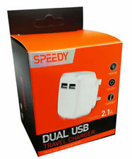 Speedy Fast Dual 2 Port USB Charger /3 Pin UK Mains Wall Plug Adapter UK
