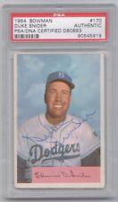 Duke Snider 1954 Bowman Signed Autograph PSA DNA Brooklyn Dodgers Auto Slabbed