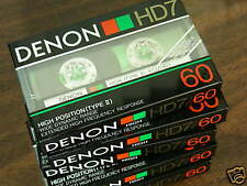 10 Denon HD7-60 hi bias Cassette Tapes